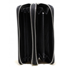 Clutch made of Stingray leather with two zippers (ST 15 EX Black)