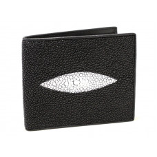 Wallet men's Stingray leather (skm-1650 Black)