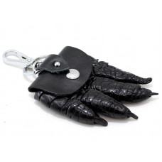 Keychain crocodile leather (KCL 96 Black)