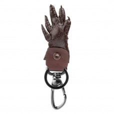 Keychain CROCODILE LEATHER 18227 genuine leather crocodile Brown