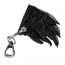 Keychain CROCODILE LEATHER 18241 genuine leather crocodile Black