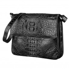 Bag CROCODILE LEATHER 18020 genuine leather crocodile Black
