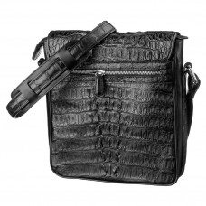 Bag men CROCODILE LEATHER 18021 genuine leather crocodile Black
