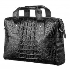 Bag CROCODILE LEATHER 18022 genuine leather crocodile Black