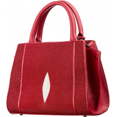 Bag STINGRAY LEATHER 18222 genuine leather Stingray Red