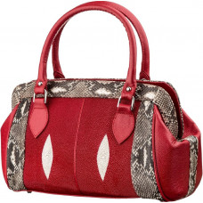 Women's bag STINGRAY LEATHER18224 genuine leather Stingray Red