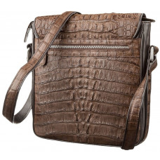 Bag men CROCODILE LEATHER 18262 genuine leather crocodile Brown