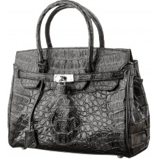 Bag CROCODILE LEATHER 18265 genuine leather crocodile Black