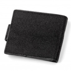 Wallet STINGRAY LEATHER 18002 genuine leather Stingray Black