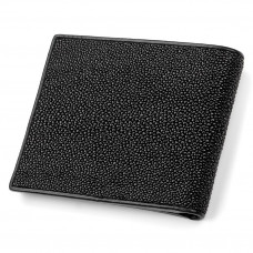 Wallet STINGRAY LEATHER 18009 genuine leather Stingray Black
