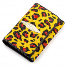 Wallet women STINGRAY LEATHER 18075 genuine leather Stingray multi-Colored
