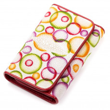 Wallet women STINGRAY LEATHER 18081 genuine leather Stingray multi-Colored