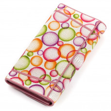 Wallet women STINGRAY LEATHER 18082 genuine leather Stingray multi-Colored