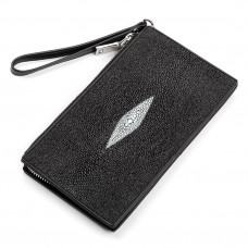 Wallet clutch STINGRAY LEATHER 18105 genuine leather Stingray Black