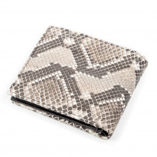 SNAKE LEATHER purse 18136 genuine leather Python Grey