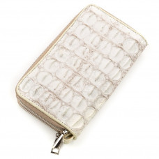 Women's clutch bag CROCODILE LEATHER 18160 genuine crocodile leather White