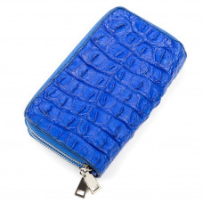 Women's clutch bag CROCODILE LEATHER 18161 genuine leather crocodile Blue