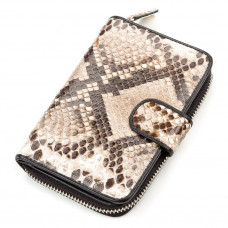 Purse SNAKE LEATHER 18180 genuine Python leather Brown