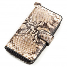 Womens purse SNAKE LEATHER 18181 genuine Python leather Brown