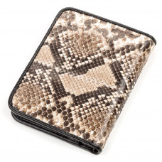 Purse SNAKE LEATHER 18198 genuine Python leather Brown