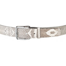 Belt SNAKE LEATHER 18168 genuine leather Cobra White