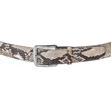 Belt SNAKE LEATHER 18175 genuine Python skin Multicolor