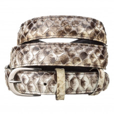 Belt ladies SNAKE LEATHER 18189 genuine Python skin Multicolor