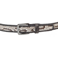 Belt SNAKE LEATHER 18192 genuine Python skin Multicolor
