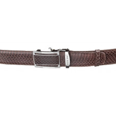 Strap-machine SNAKE LEATHER 18166 genuine leather Cobra Brown