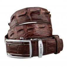 Strap automatic CROCODILE LEATHER 18235 genuine crocodile leather (Caiman) Brown
