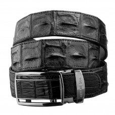 Strap automatic CROCODILE LEATHER 18236 genuine crocodile leather (Caiman) Black