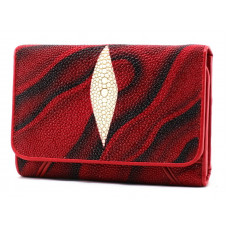 Purse Stingray leather (NST 63-95 red/black)
