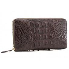 Bag purse (clutch) crocodile (1512-265 brown)