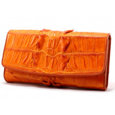 Purse women's crocodile (NPCM 03 BT Orange)