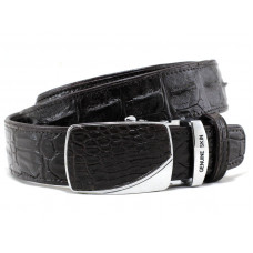 The strap of crocodile leather (110-15 Black)