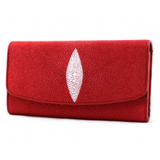 Wallet women Stingray leather (NST52 red)