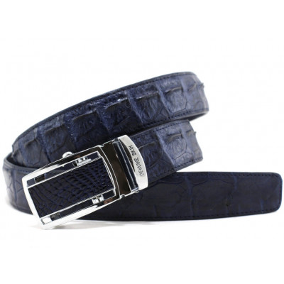 The strap of crocodile leather (NCR-105 blue)