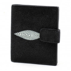 Business card holder Stingray leather (08 Black STCH)