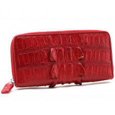 Wallet crocodile leather ( NPCM 04H Fire red)