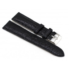 Watchband crocodile leather (ALWS 01 Black)