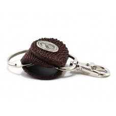Keychain made of genuine leather Stingray (STB-180 bordo)