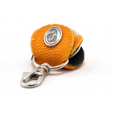 Keychain made of genuine leather Stingray (STB-180 orange)