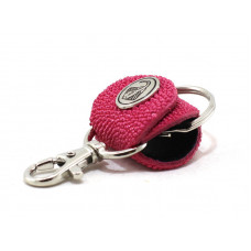 Keychain made of genuine leather Stingray (STB-180 pink)