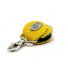 Keychain made of genuine leather Stingray (STB-180 yello)