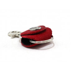 Keychain made of genuine leather Stingray (STB-180, red)
