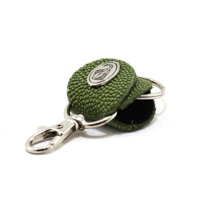 Keychain made of genuine leather Stingray (STB-180, green)