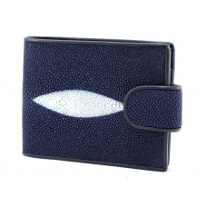 Wallet men's Stingray leather (NST 1005 blue)