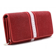 Wallet women Stingray leather (NSK-8432 red)
