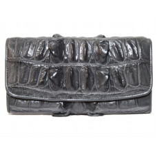 Wallet female crocodile (N1024-03 Grey)