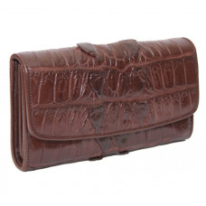 Wallet female crocodile (N1026b-03 Brown)